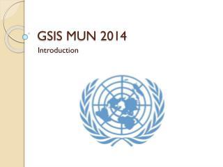 GSIS MUN  2014