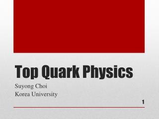 Top Quark Physics