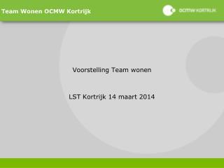 Team Wonen OCMW Kortrijk