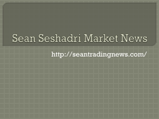 Sean Seshadri Best Stock Tips