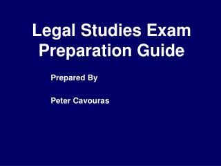 Legal Studies Exam Preparation Guide