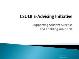 CSULB E-Advising Initiative
