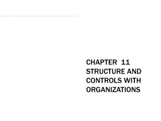 CHAPTER  11 STRUCTURE AND CONTROLS WITH ORGANIZATIONS
