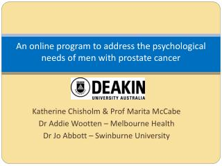 An online program to address the psychological needs of men with prostate cancer