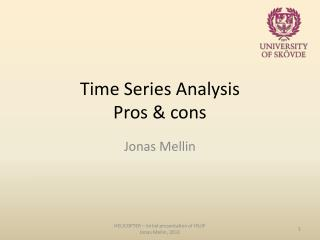Time  Series  Analysis Pros  &  cons