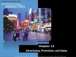 Chapter  13 Advertising, Promotion, and Sales