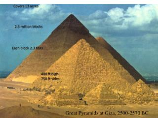 Great Pyramids at Giza, 2500-2570 BC