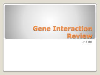 Gene Interaction Review