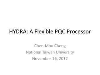 HYDRA: A Flexible PQC Processor