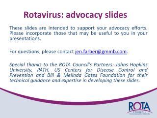 Rotavirus: advocacy slides
