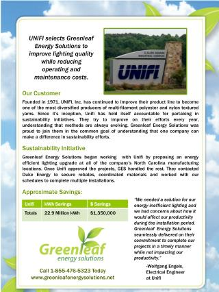 Call 1-855-476-5323 Today www.greenleafenergysolutions.net