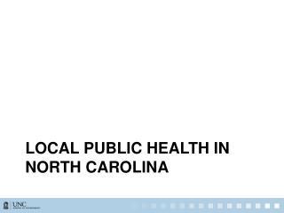 Local public health in north  carolina