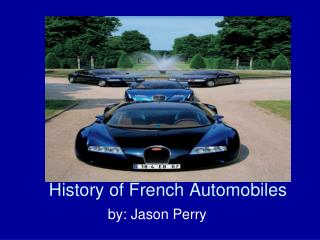 History of French Automobiles