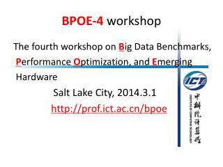 BPOE-4  workshop