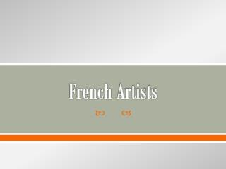 French  Artists