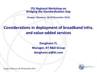 Considerations in deployment of broadband infra.  and value-added services