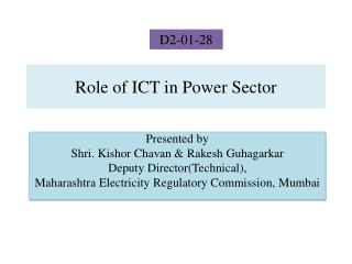 Role of ICT in Power Sector