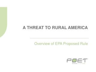 A threat to rural America