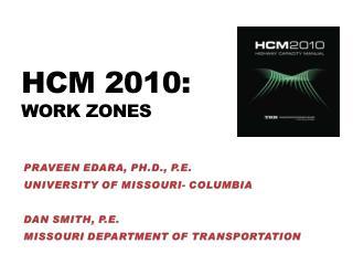 Hcm 2010: work  zones