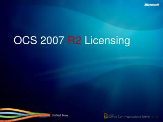 OCS 2007  R2  Licensing