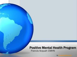 Positive Mental Health Program
