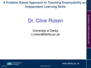 Dr. Clive Rosen