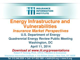 Energy Infrastructure and Vulnerabilities  Insurance Market Perspectives