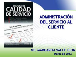 ADMINISTRACIÓN DEL SERVICIO AL CLIENTE