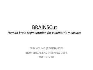 BRAINSCut Human brain  segmentation  for volumetric measures