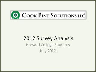 2012 Survey Analysis
