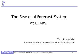 The Seasonal Forecast System at ECMWF