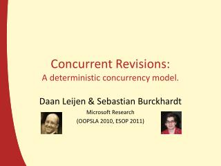Concurrent Revisions: A deterministic concurrency model.