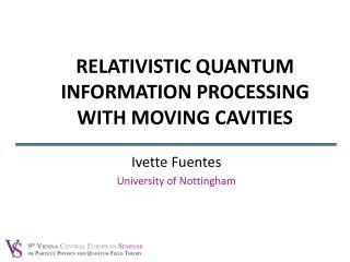 Ivette  Fuentes University of Nottingham