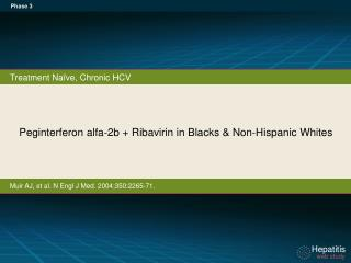 Peginterferon alfa - 2b  +  Ribavirin in Blacks & Non-Hispanic Whites