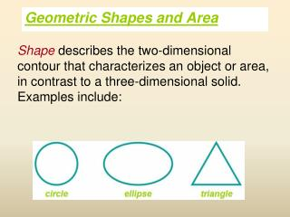 Geometric Shapes and Area