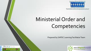 Ministerial Order and Competencies