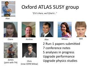 Oxford  ATLAS SUSY  group