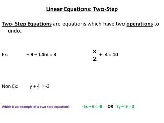 Linear Equations: Two-Step