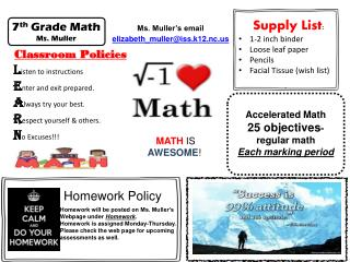 MATH  IS  AWESOME !
