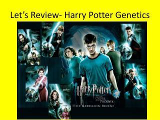 Let's Review- Harry Potter Genetics