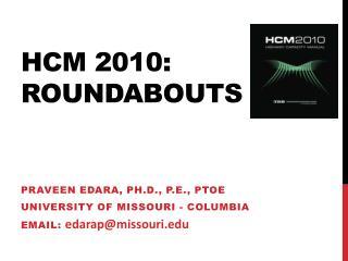 Hcm  2010: roundabouts