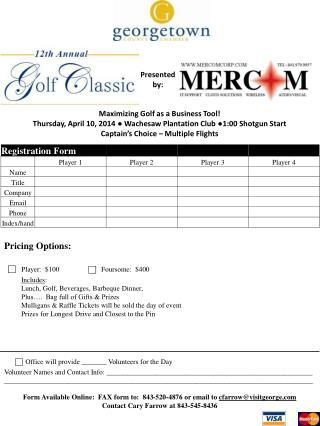 Maximizing Golf as a Business Tool!