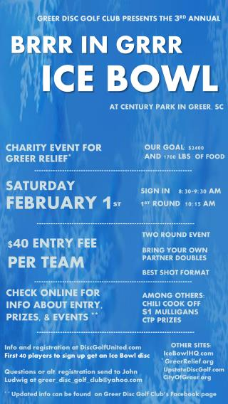 CHARITY EVENT FOR GREER RELIEF * SATURDAY FEBRUARY  1 ST