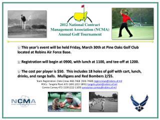 2012 National Contract Management Association (NCMA) Annual Golf Tournament
