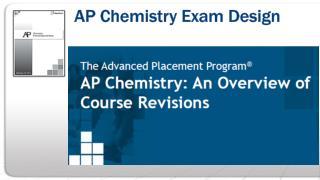 AP Chemistry Exam Design