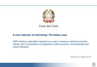 A new indicator of well-being : The  Italian  case