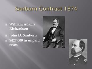 Sanborn Contract 1874