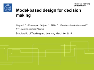 Model-Based Design  Analysis