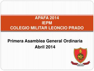 APAFA 2014 IEPM COLEGIO MILITAR LEONCIO PRADO