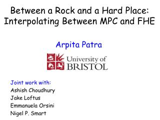 Between a Rock and a Hard Place: Interpolating Between MPC and FHE